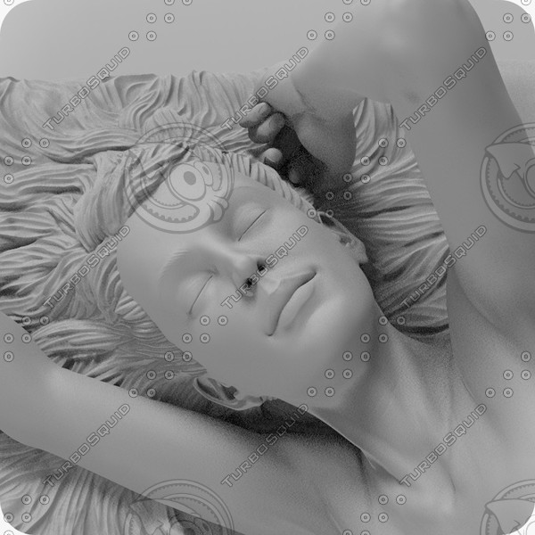 sculpture girl morning c4d - Sculpture Girl in the Morning... by CG ARTStudio