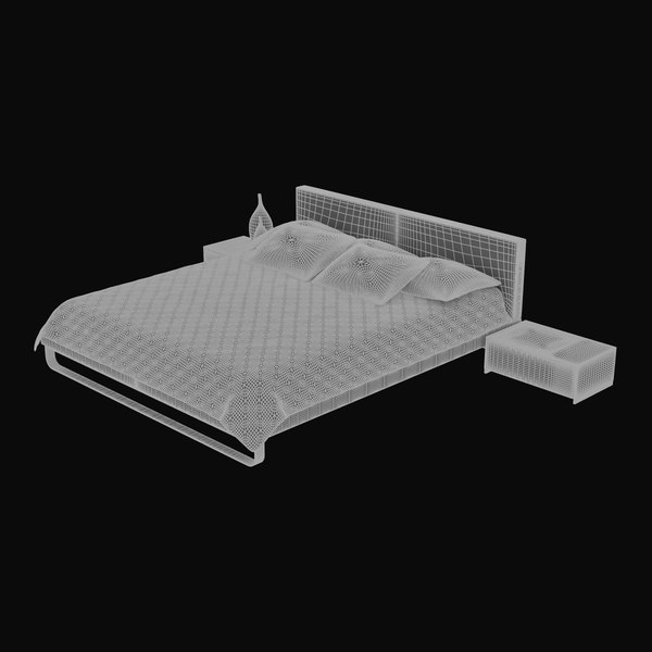 3d model architectural - Bed 03... by Lajhar