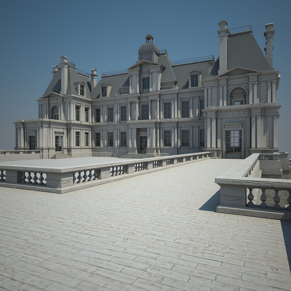 3d french chateau model - French Chateau... by Van der Dal