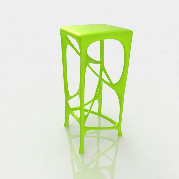 3d model bar stool - Bar stool 77 lime plastic... by razlomov