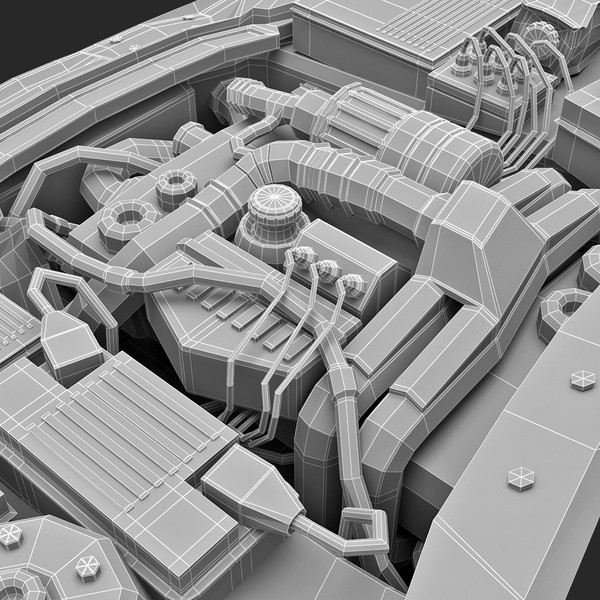 3ds subaru car engine - Subaru Car Engine... by 3d_molier
