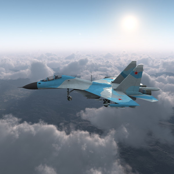 3d model of russian sukhoi su-30 aircraft - Russian Fighter Aircraft Sukhoi Su-30... by 3d_molier