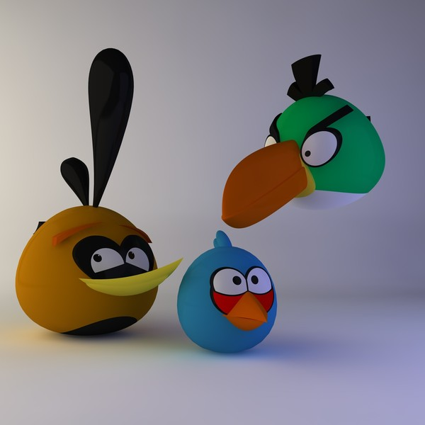 3d angry birds model - Angry Birds 2... by Pink Dahlia