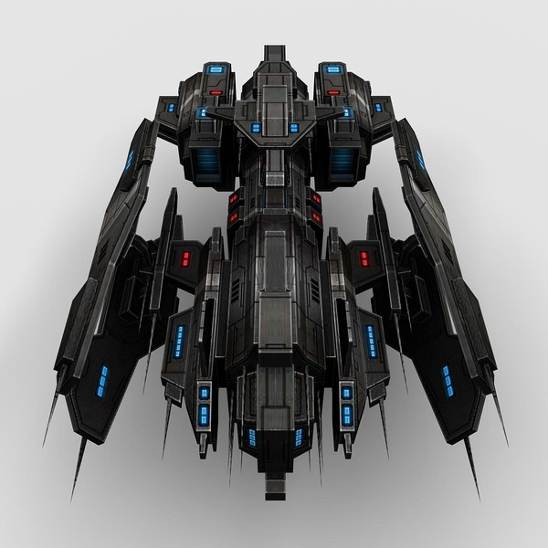 fi ship fighter 3d 3ds - Battleship_Fighter_1... by Angryfly
