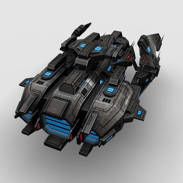 fi ship fighter 3d max - Battleship_Fighter_2... by Angryfly