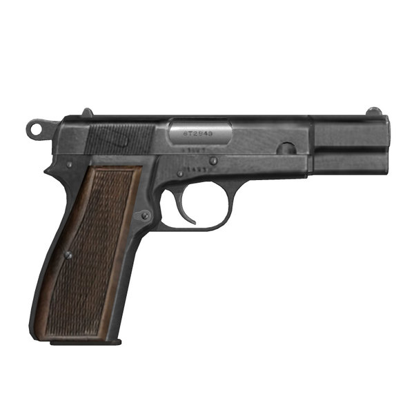 Browning Hi-Power 3D Models