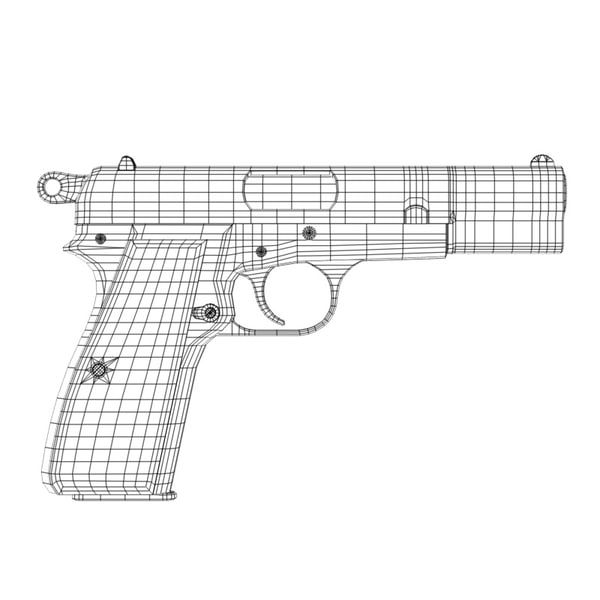 3d browning hi-power - Browning Hi-Power... by JHoagland
