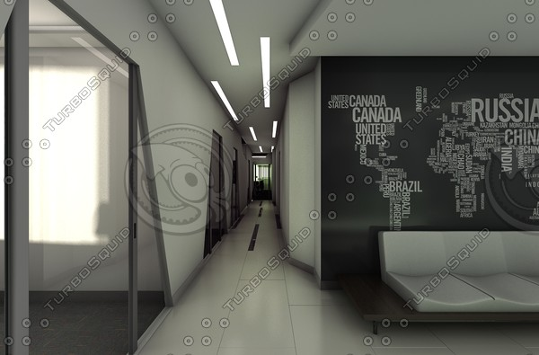 office 3d model - C4D Office... by C4D Source