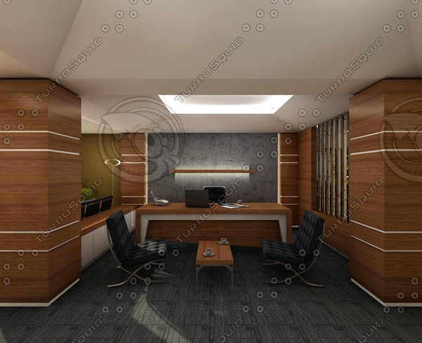 3d office scene - C4D Office... by C4D Source