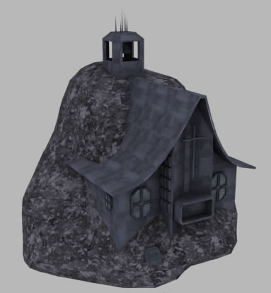 space church asteroid 3d 3ds - Church Asteroid... by SolCommand
