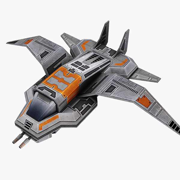 3ds star fighter - Gun Ship... by Hobgob
