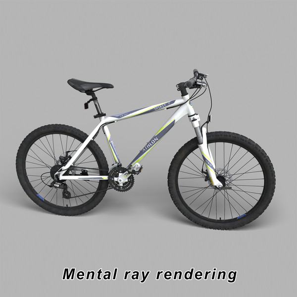 3d realistic mountain bike modeled - Mountain Bike 3d Model... by Bitmapworld