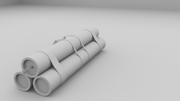 3d model of tnt bomb - TNT Bomb... by rafaelosterne