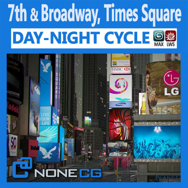 NYC Broadway,7th Av, Times Square 3D Models