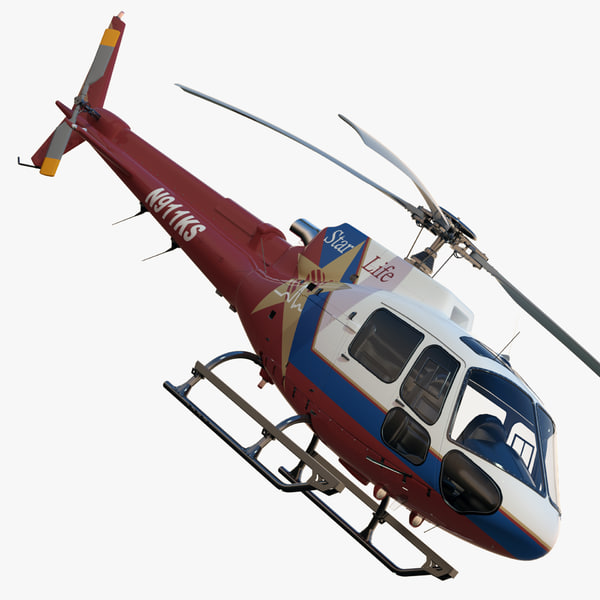 3dsmax eurocopter as350 ba ks - Eurocopter AS350  BA KS LIFESTAR... by dimosbarbos