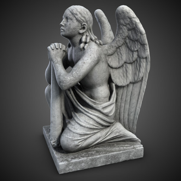 Statue Angel On The Knees 3D Models