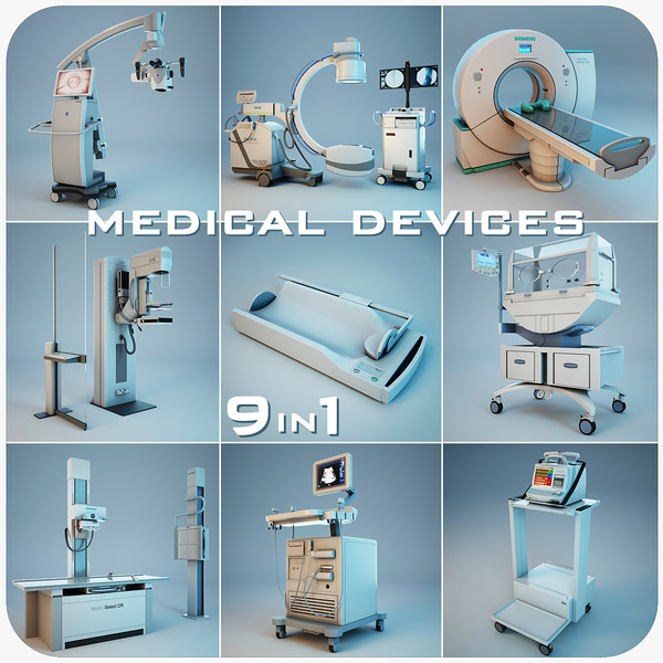 3d model medical devices 9 1 - Medical Devices Collection 9 in 1... by Stubborn3D