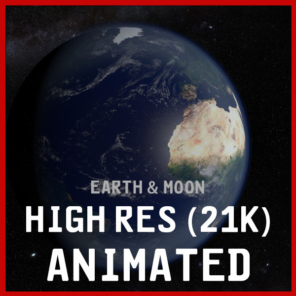 earth moon 21k planet globe 3d model - EARTH & MOON 21K... by NGC4051