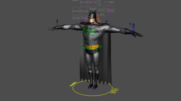 3d model batman rig - Batman (Rig)... by ashwin_thegreat