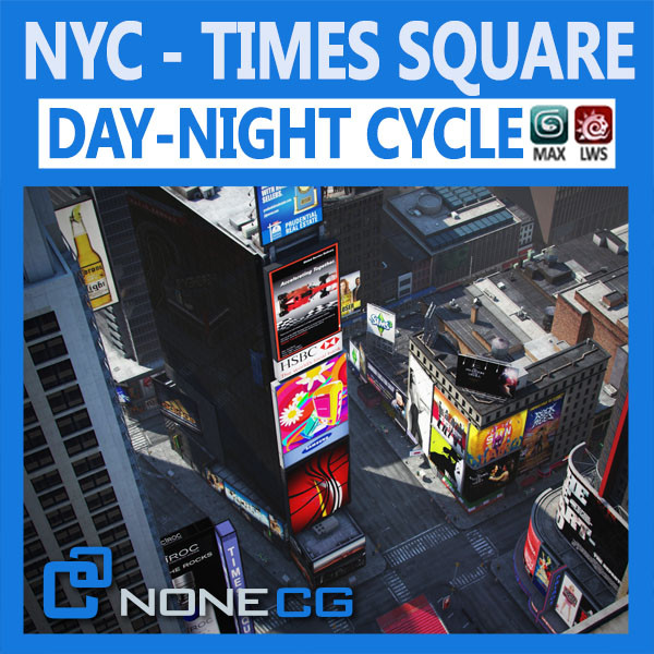 NYC Times Square 3D Models