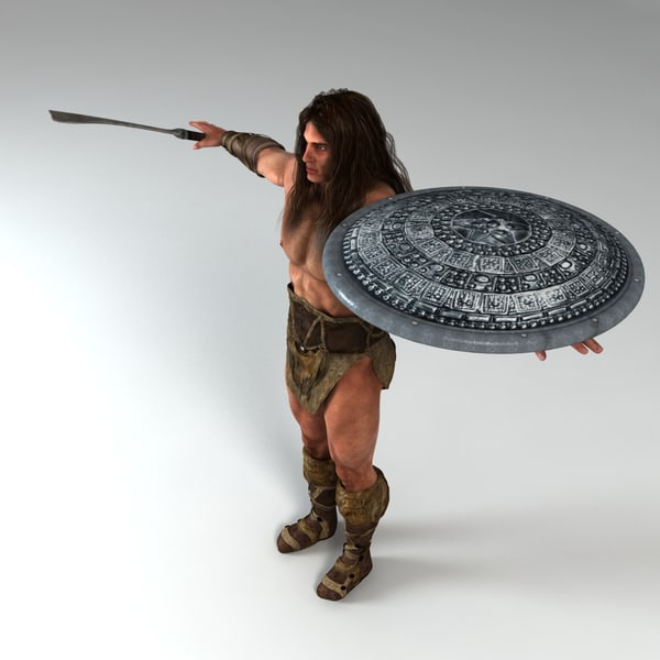 3d warrior weapon shield - Warrior Man Model... by Alpha3DMax