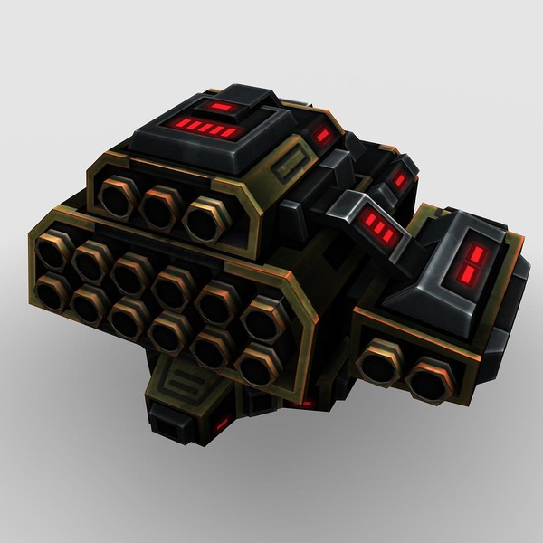3d model 4 missle launchers - 4_Missle_Launchers... by Angryfly