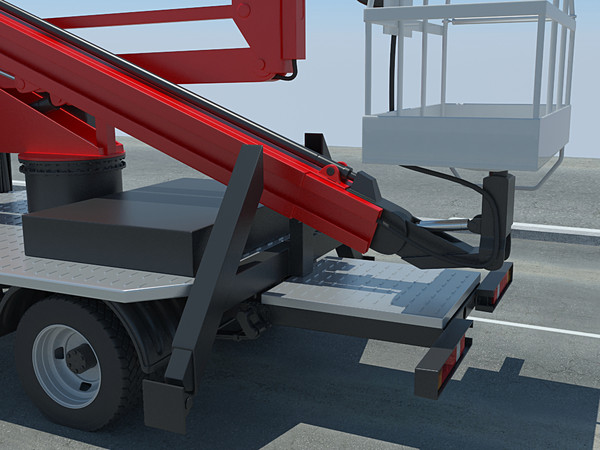 3d model lifting crane modelled - mobile aerial tower... by Rodrigues_DDD