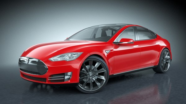 3d 2013 tesla s modeled - Tesla Model S 2013... by be fast