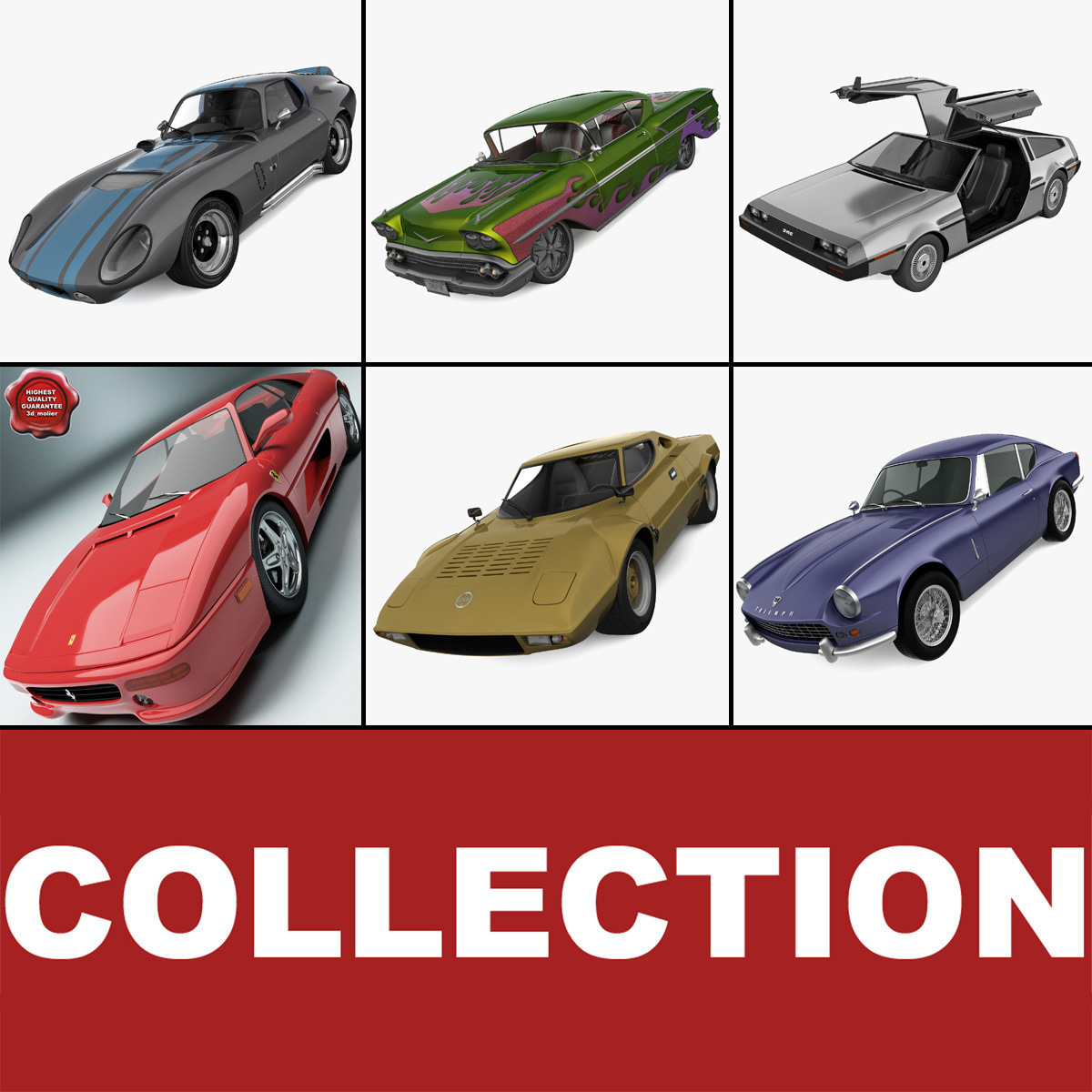 Retro Cars Collection 20