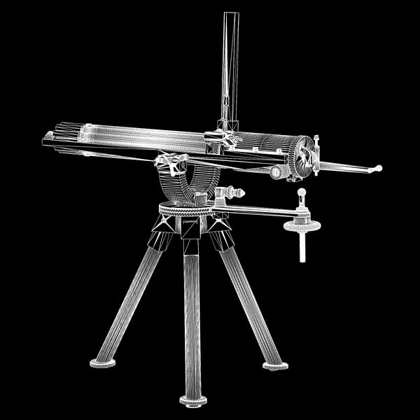 gatling gun 3d model - Gatling Gun... by Poornachandra