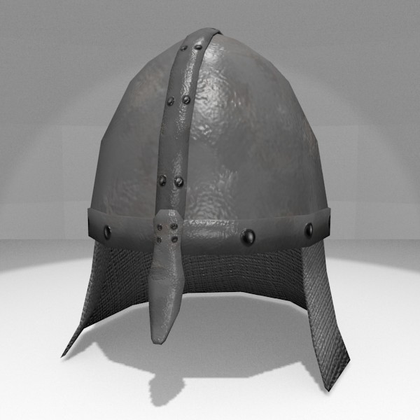 3d obj resolution helmet medieval - Medieval Helmet... by Rangerr