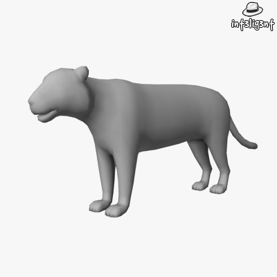edge loop 3d model - Low Poly Tiger... by Int3lig3nt