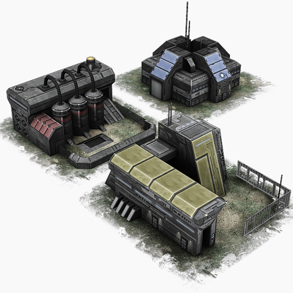 3ds military building - RTS building pack... by Hobgob
