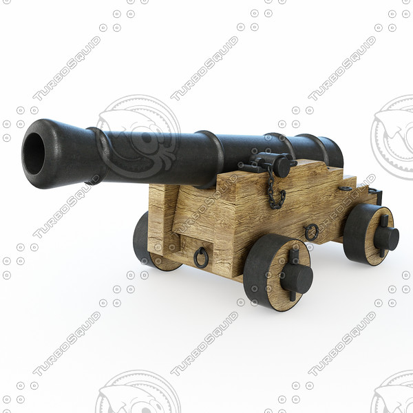 3d model cannon artillery naval - Cannon... by PlastyForma