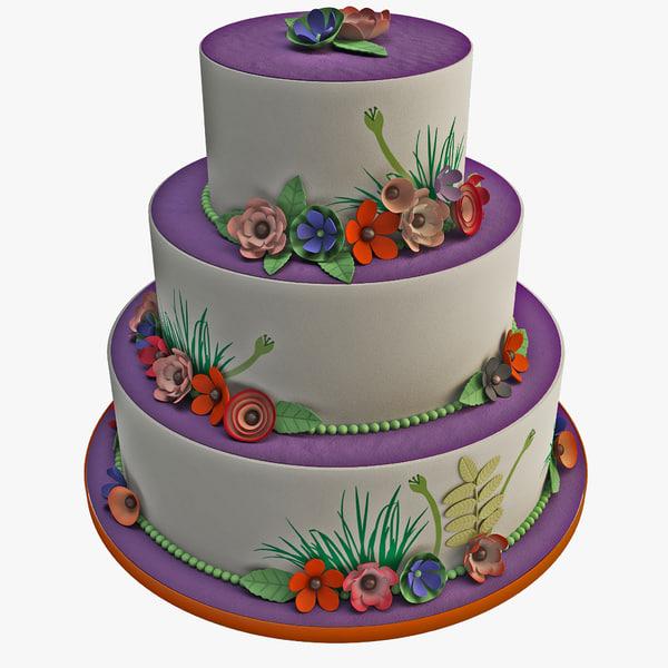 wedding cake 3D models