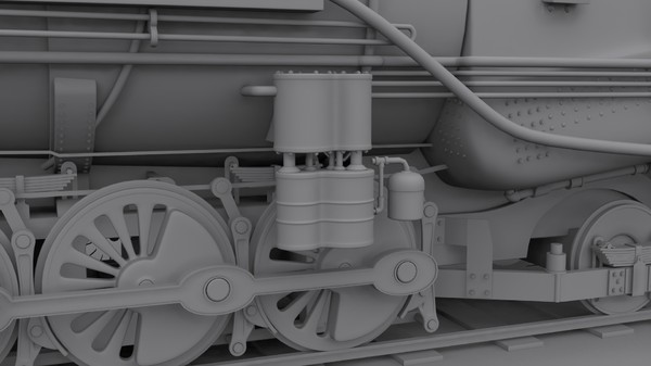 steam locomotive 3d model - Steam locomotive... by cyberniee