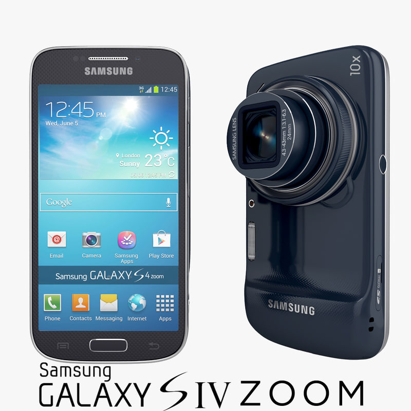 Samsung Galaxy S4 Zoom Android Smartphone in Blue