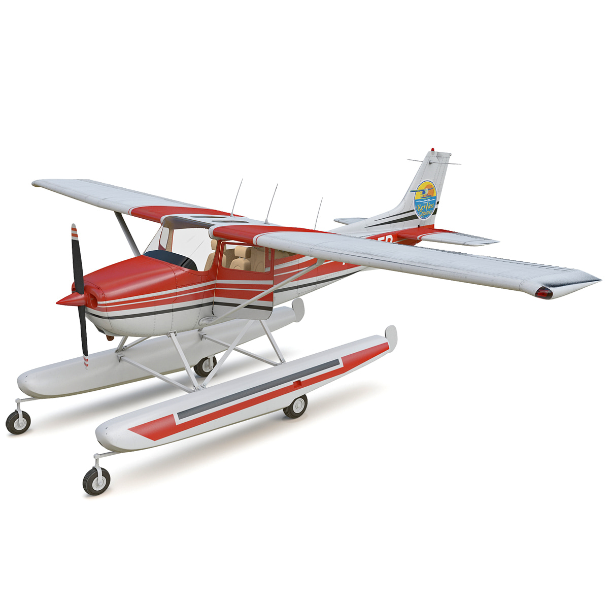 Cessna 172 Seaplane Rigged