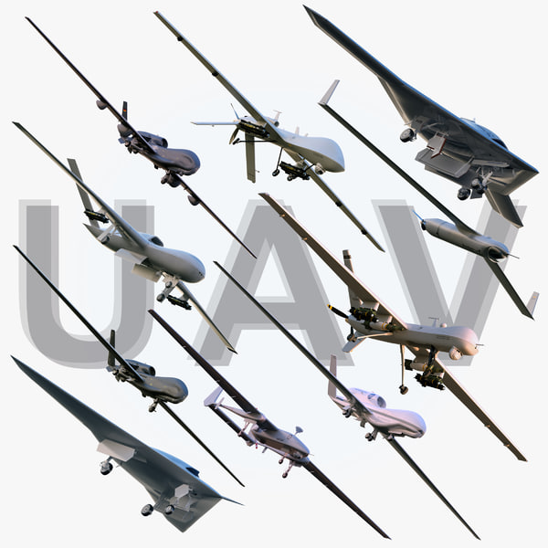 Unmanned Aerial Vehicles Collection 3D Models