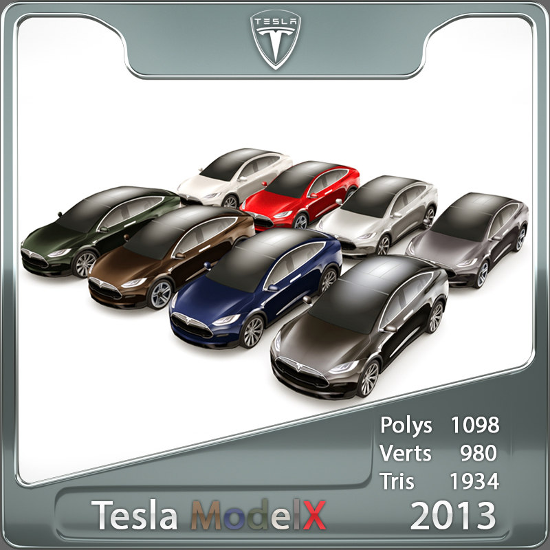 2013 Tesla Model X custom colours