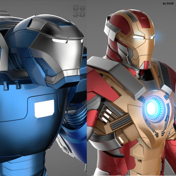 Iron Man 3 Suits - Mark 17 Heartbreaker Armor & Mark 38 Igor Armor Texture Maps