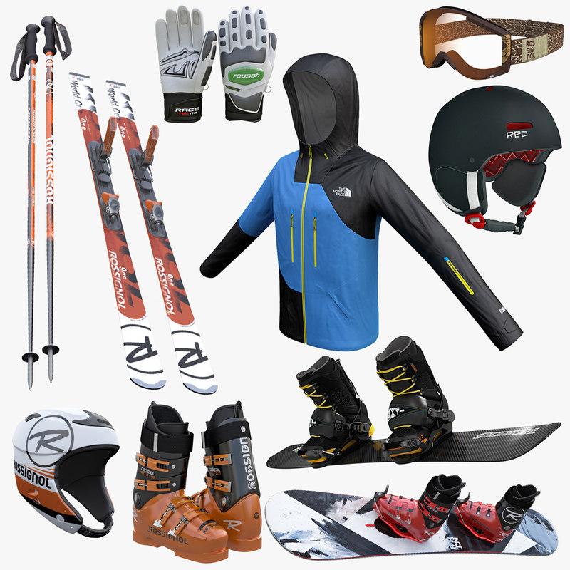 Ski and Snowboard Equipment Full