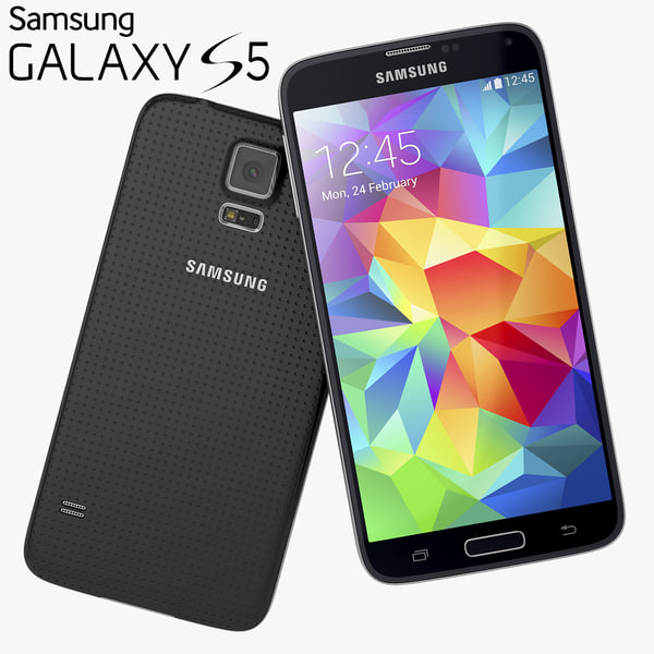 Samsung Galaxy S5 New Flagship Smartphone 2014 3D Models