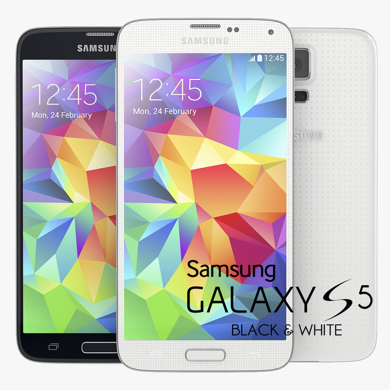 Samsung Galaxy S5 New Flagship Smartphone Black And White