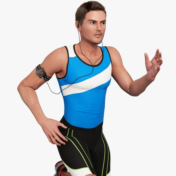 Athlete Male 3D Models