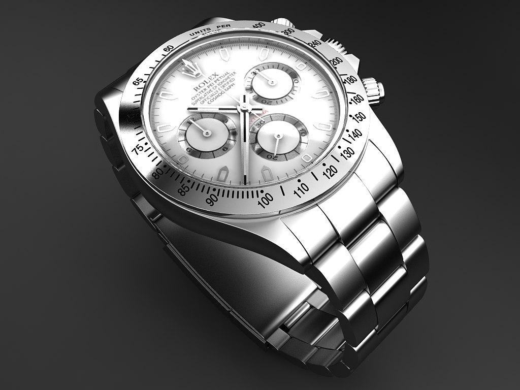 daytona rolex watch 3d model