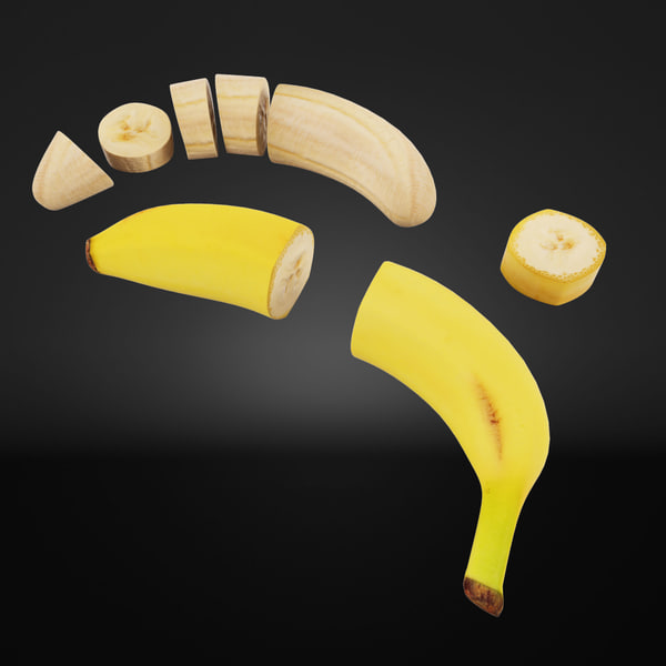 Banana Cuts 3D Models