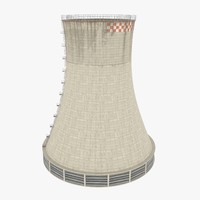 nuclear cooling tower 3D models