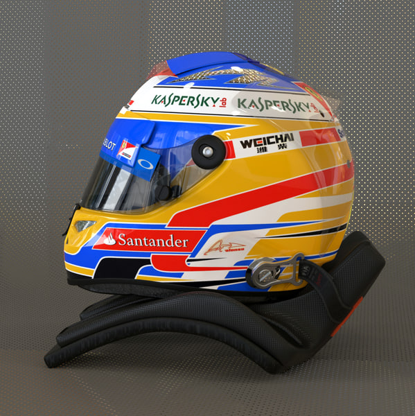 Fernando Alonso 2014 style Racing helmet 3D Models
