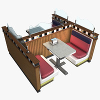 cafe table 3D models